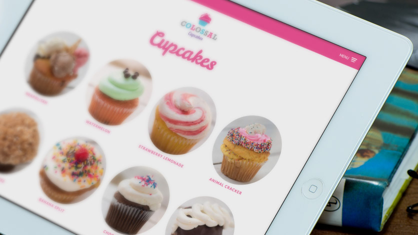 Colossal Cupcakes iPad View